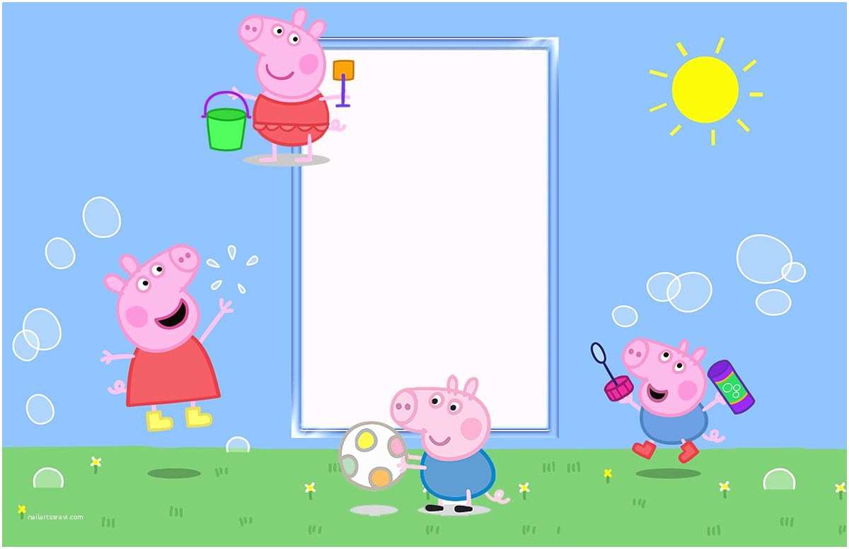 Peppa Pig Party Invitations Peppa Pig Birthday Party Invitation Template Free