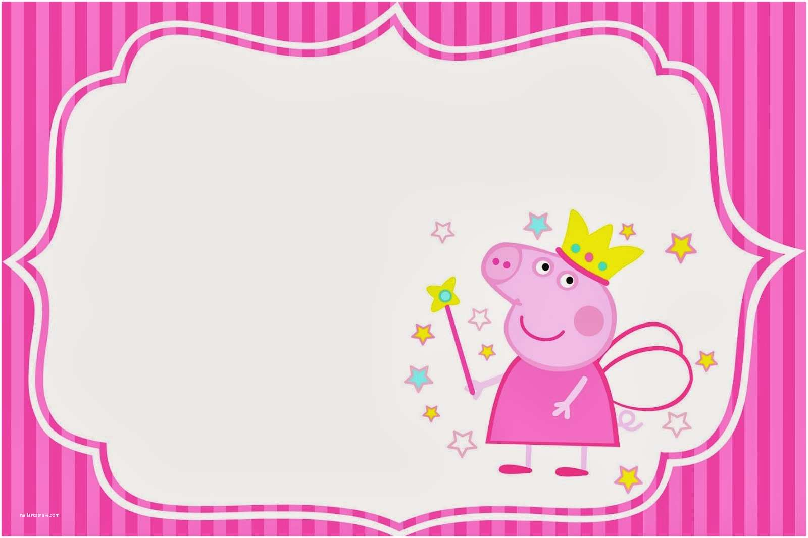 printable peppa pig birthday invitations free