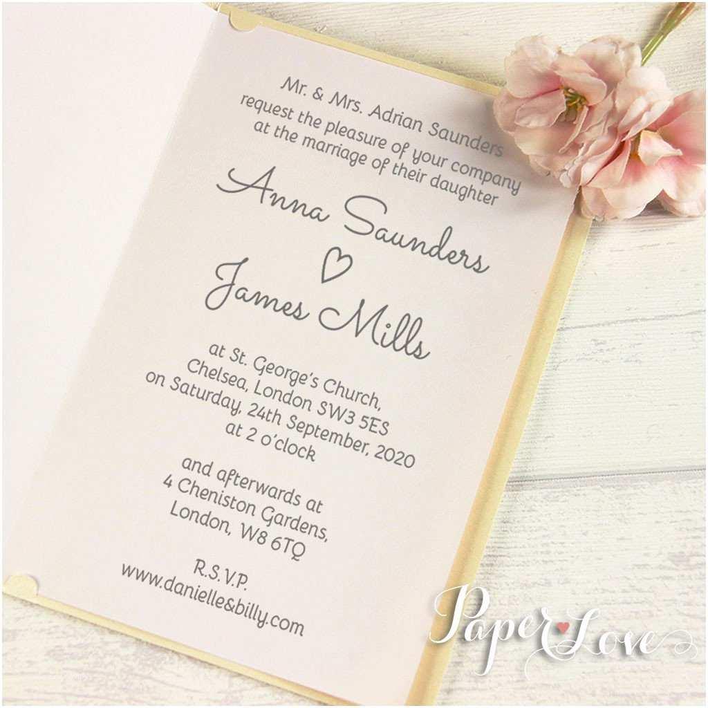 Personal Wedding Invitation Intricate Bride & Grooms Names Personalised Laser