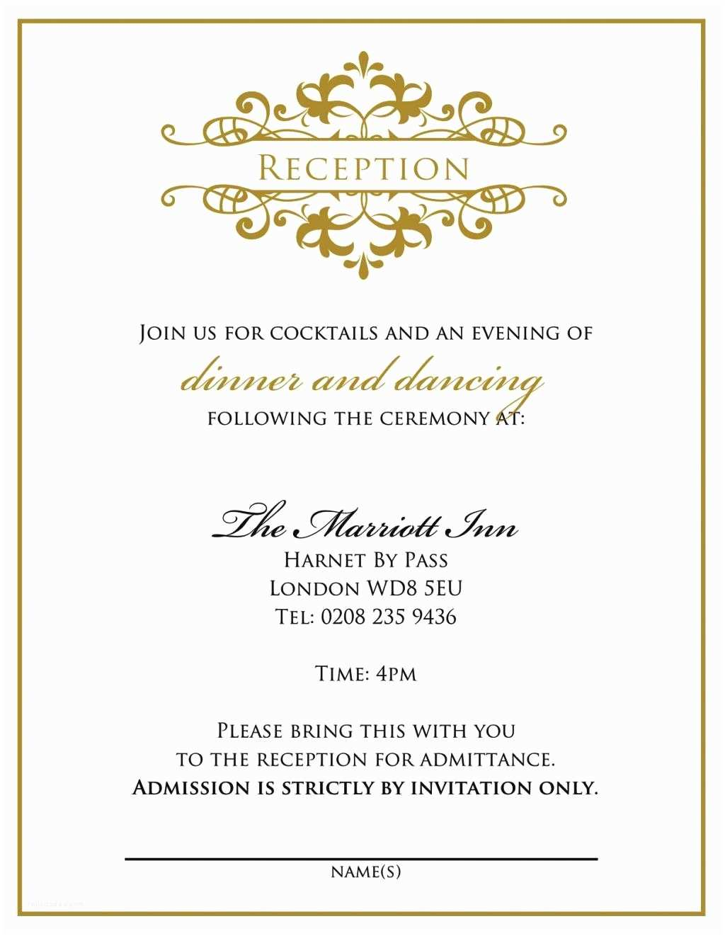 Personal Wedding Invitation Personal Wedding Invitation Cards