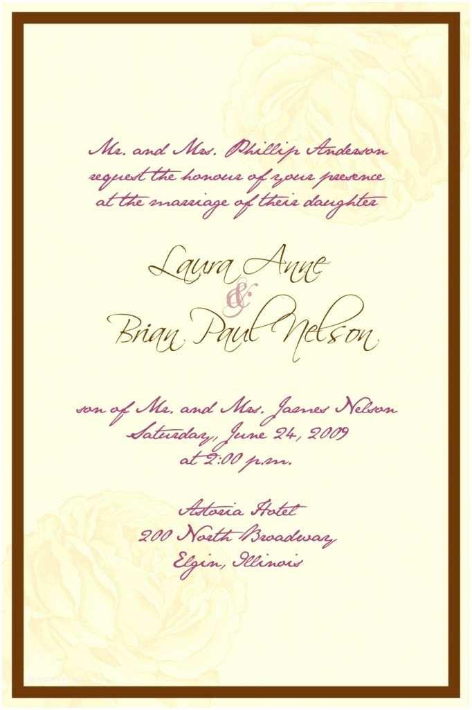 Personal Wedding Invitation Wedding Invitation Wording for Personal Cards Wording for