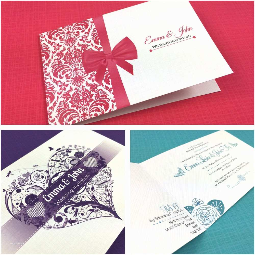Personalised Wedding Invitations Uk Personalised Folded Day Wedding Invitations