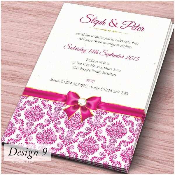 Personalised Wedding Invitations Uk Personalised Wedding Day evening Invitations Invites Inc