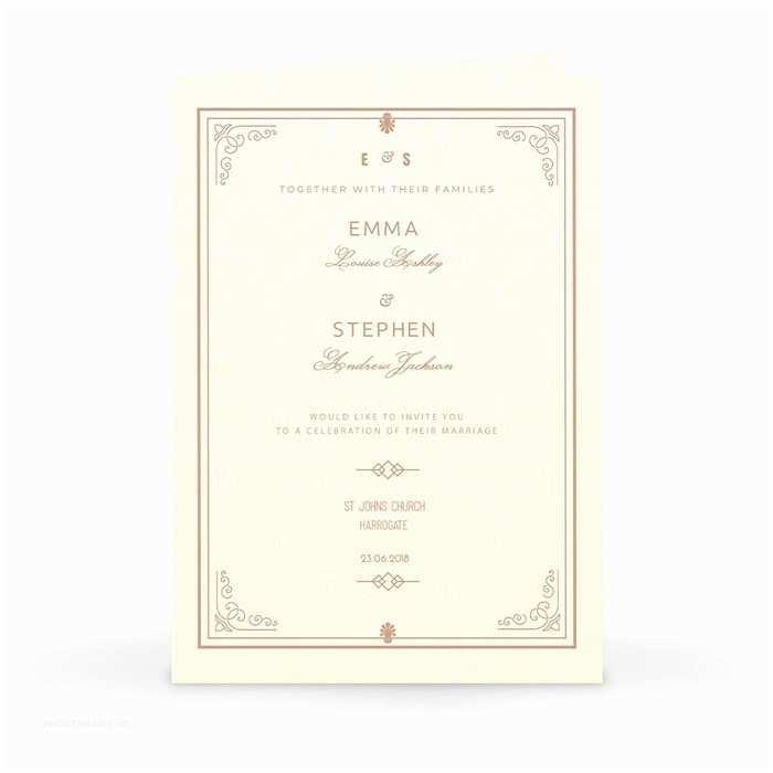 Personalised Wedding Invitations Uk Traditional Elegance Personalised Wedding Invitation