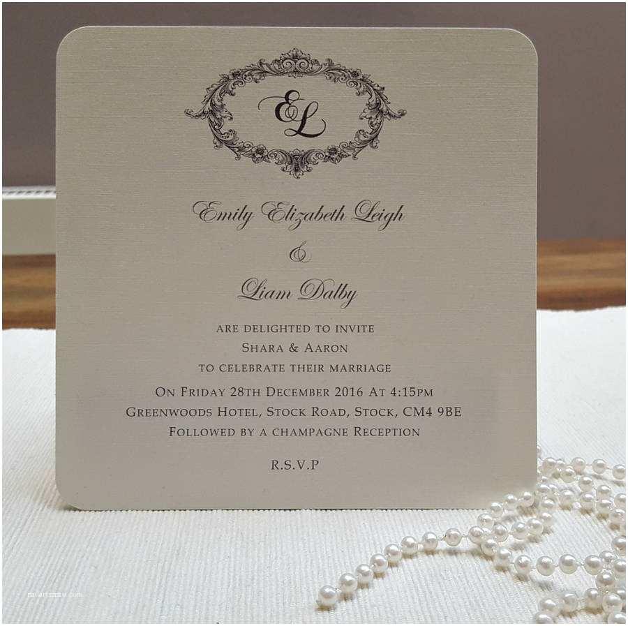 Personalised Wedding Invitations Uk Victorian Personalised Wedding Invitations by Beautiful