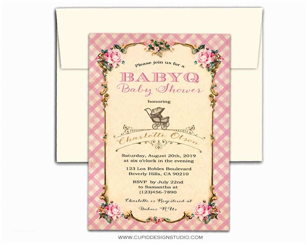 Personalized Baby Shower Invitations Bbq Baby Shower Invitations Personalized Printable or