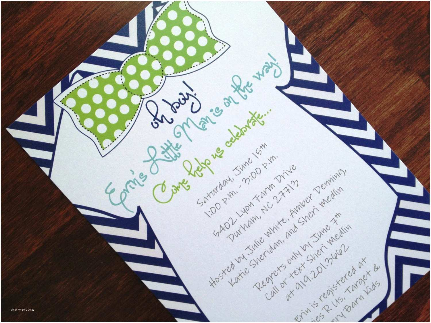 Personalized Baby Shower Invitations Custom Baby Shower Invitations for Boys