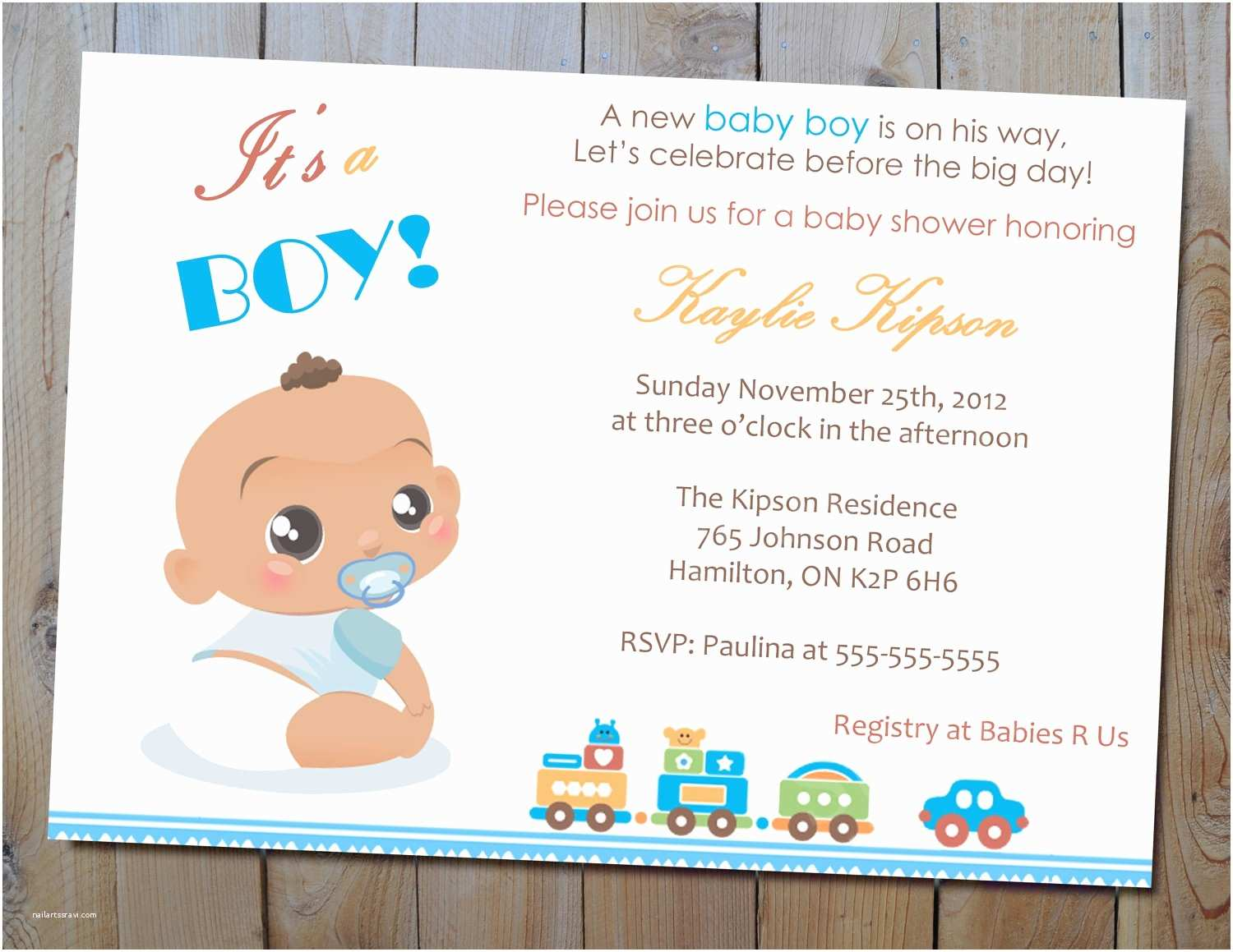 Personalized Baby Shower Invitations Invitations for Baby Shower Boy