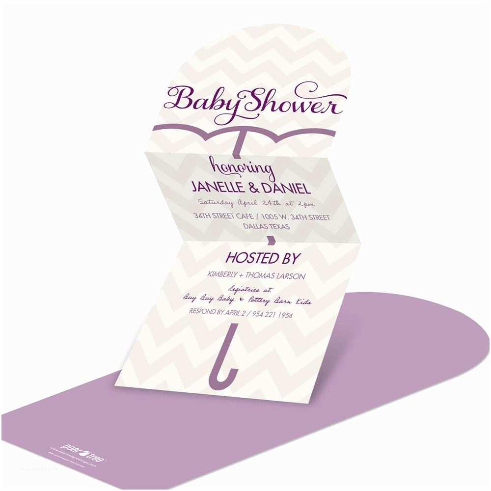Personalized Baby Shower Invitations Unique Umbrella Baby Shower Invitations