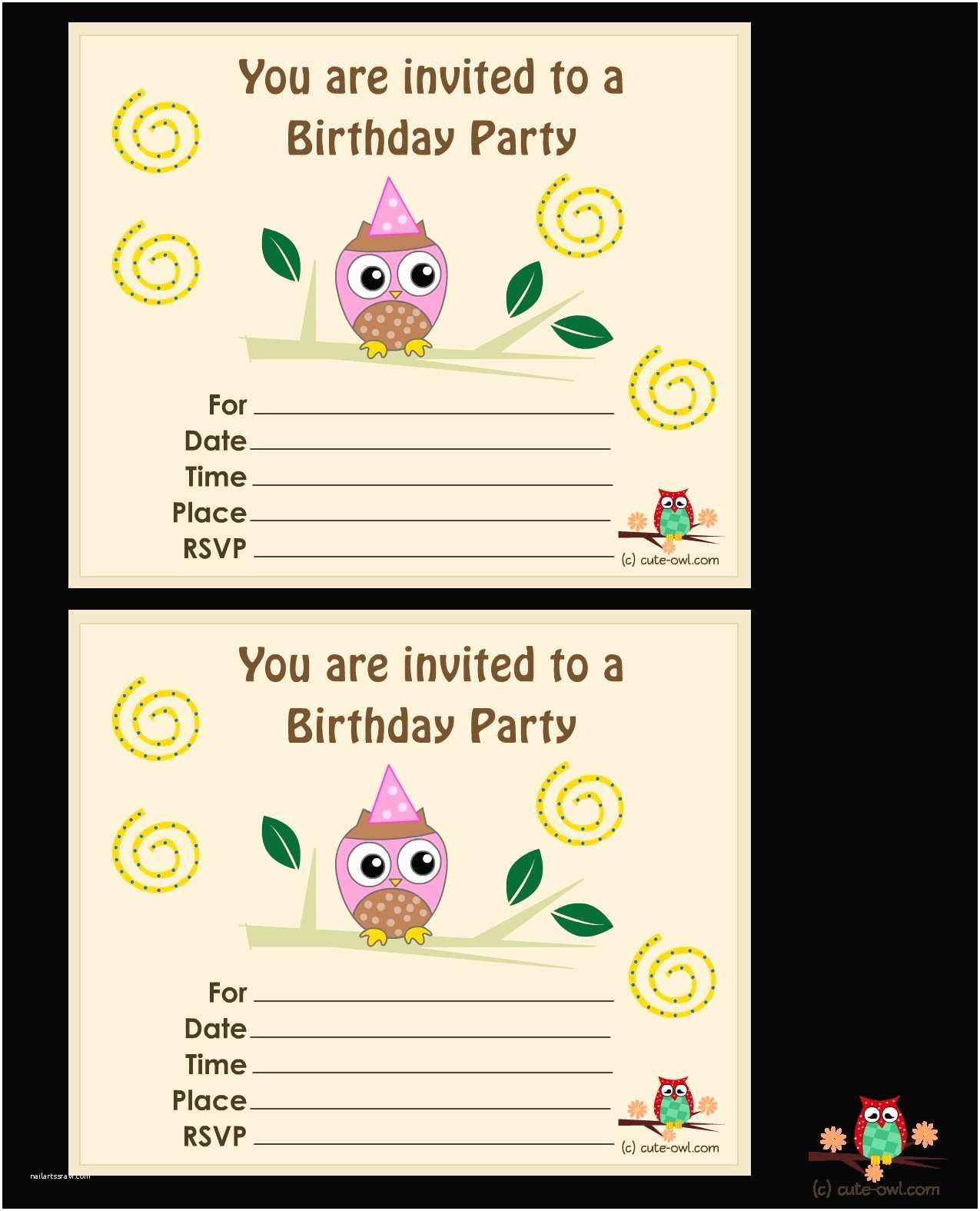 Personalized Birthday Invitations Free Printable Personalized Birthday Invitation Cards