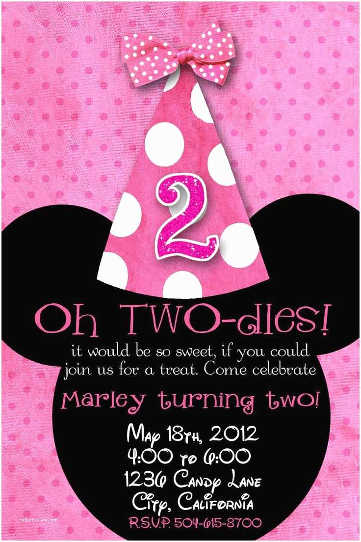 Personalized Birthday Invitations Minnie Mouse Birthday Invitations Personalized
