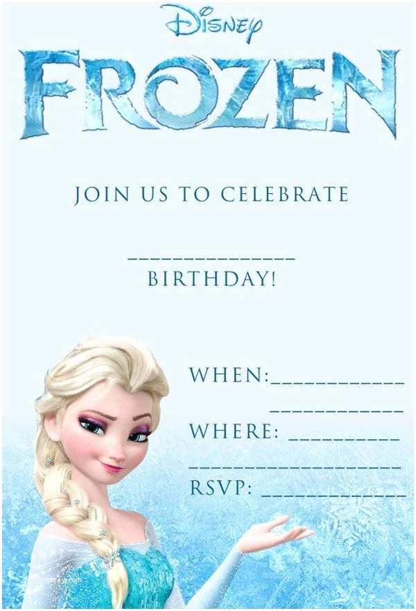 Personalized Frozen Birthday Invitations 10 Frozen Invitations