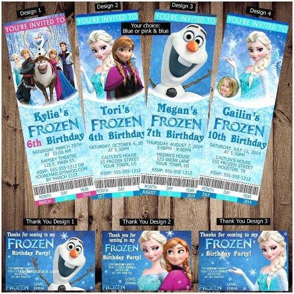 Personalized Frozen Birthday Invitations 26 Frozen Birthday Invitation Templates Psd Ai Eps