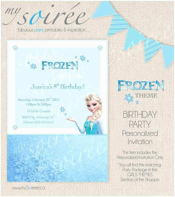 Personalized Frozen Birthday Invitations Etsy