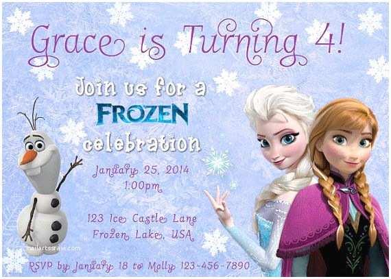 Personalized Frozen Birthday Invitations Free Printable Disney Frozen Birthday Invitations