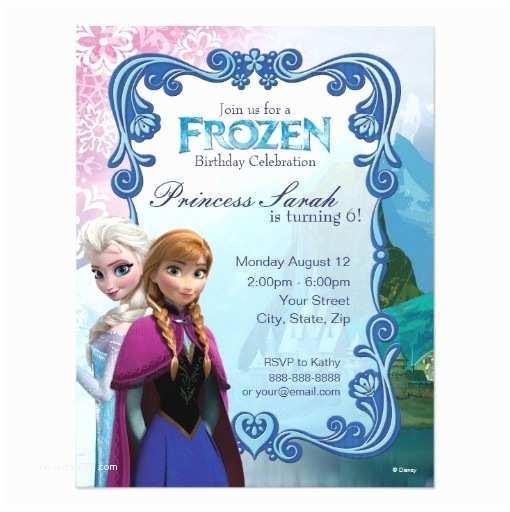 Personalized Frozen Birthday Invitations Frozen Birthday Invitation Card