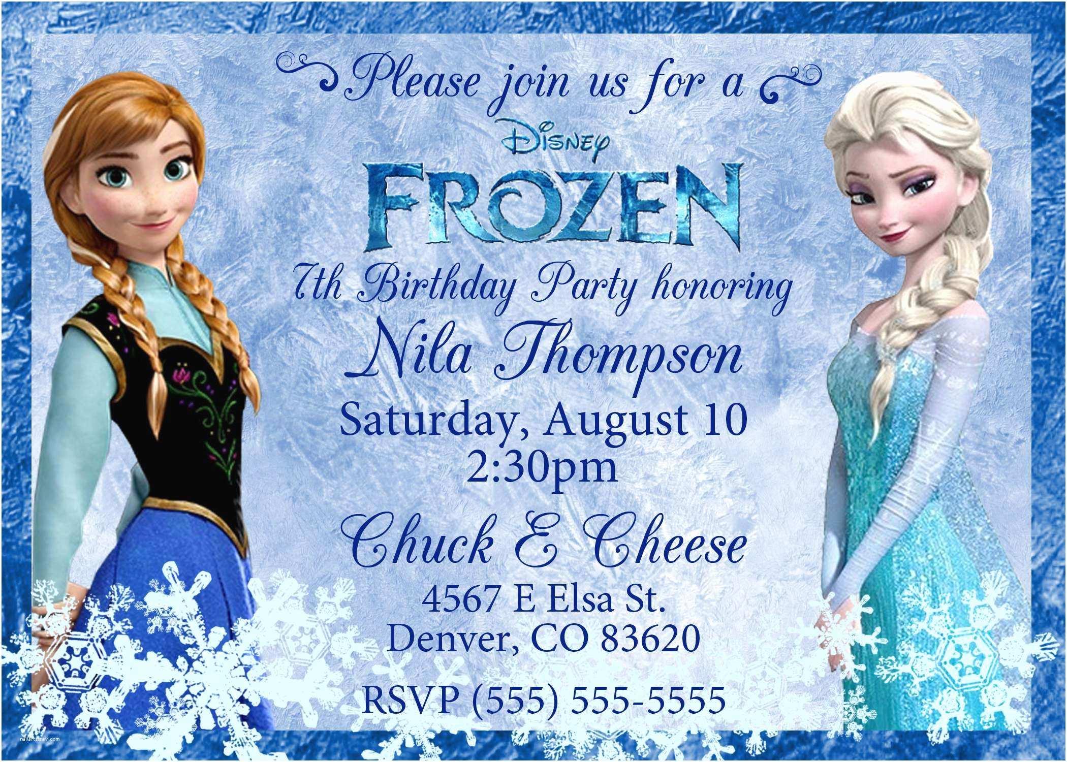 Disney Frozen Personalized Invitations