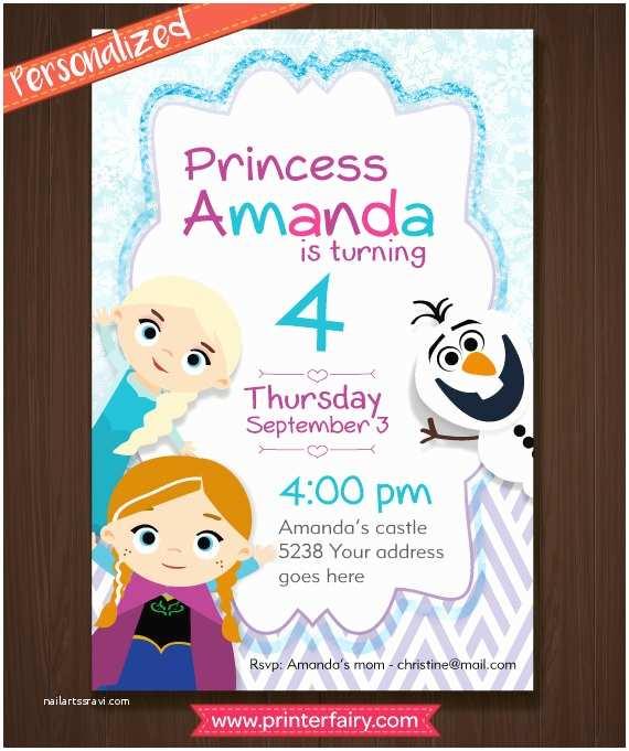 Personalized Frozen Birthday Invitations Frozen Birthday Invitations Personalized Inspired