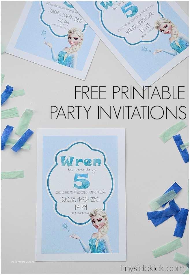 frozen birthday invitations printable