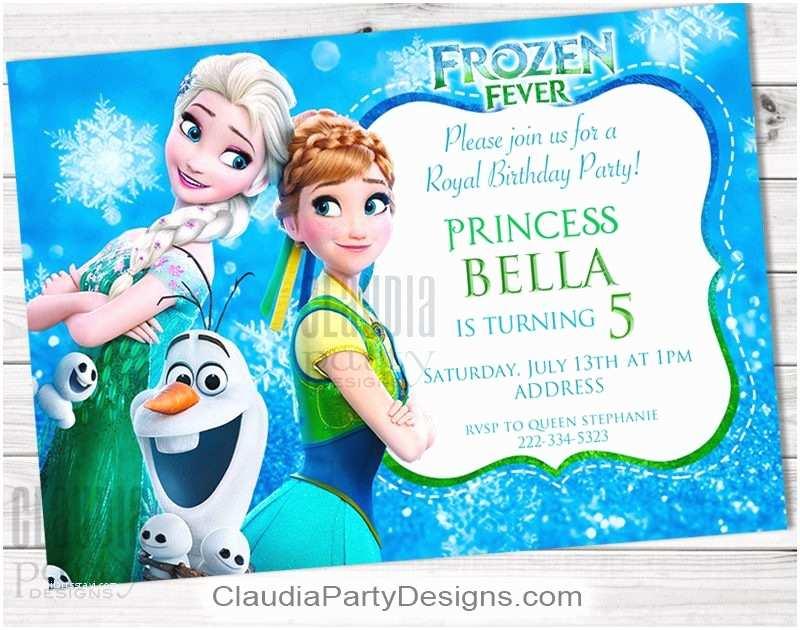 Personalized Frozen Birthday Invitations Frozen Fever Birthday Invitation Personalized Frozen