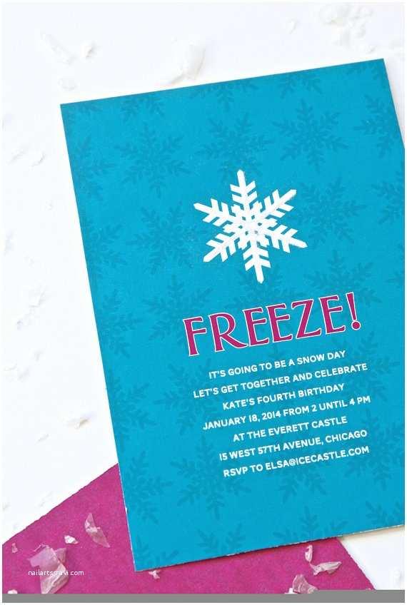 Personalized Frozen Birthday Invitations Frozen Inspired Invitations Personalized by Pagingsupermom
