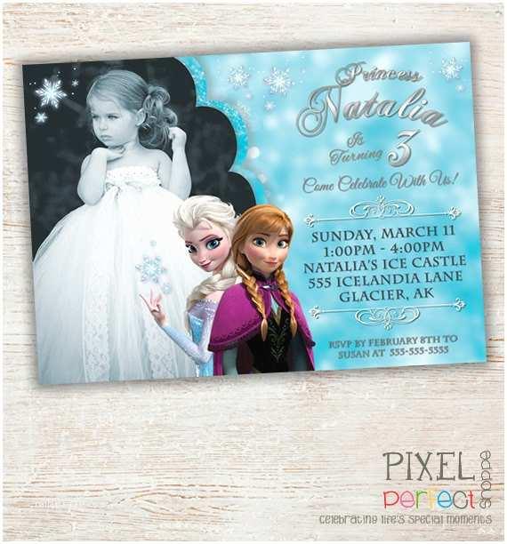 Personalized Frozen Birthday Invitations Items Similar to Frozen Printable Invitation Custom