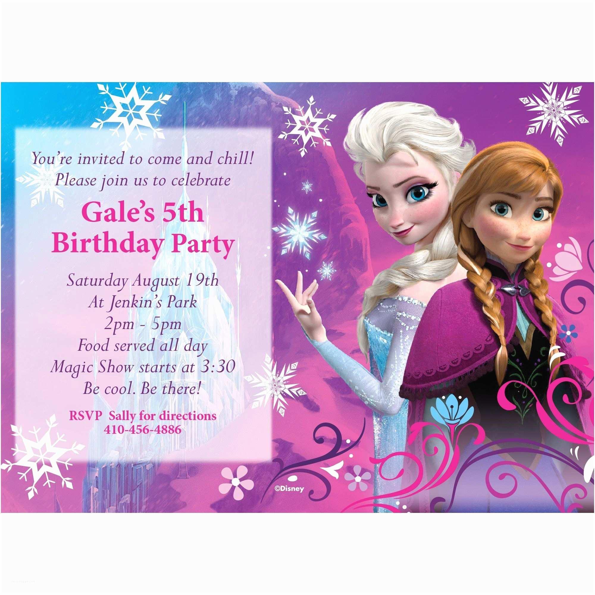 Personalized Frozen Birthday Invitations Personalized Frozen Birthday Invitations – Gangcraft