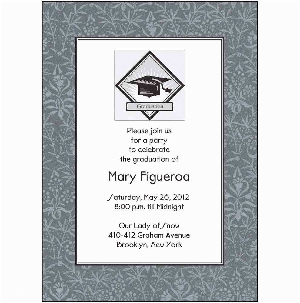 Personalized Graduation Invitations 25 Personalized Graduation Party Invitations Grad 02