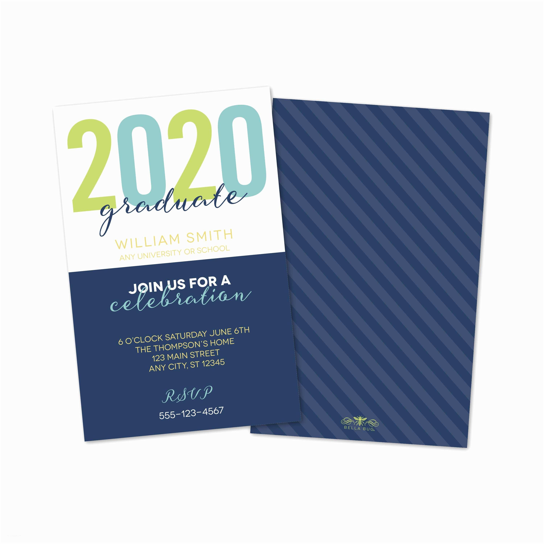 Personalized Graduation Invitations Color Block Personalized Graduation Invitation – Bella Bug
