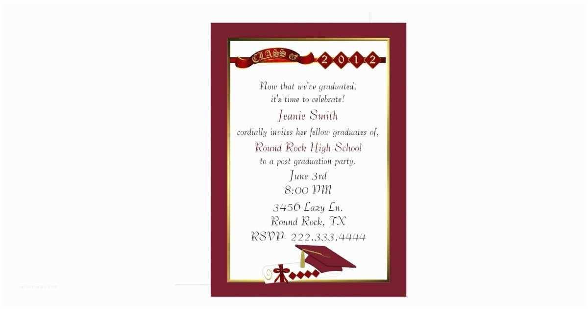 Personalized Graduation Invitations Custom Graduation Party Invitations