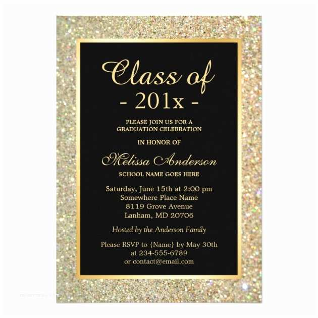 Personalized Graduation Invitations Personalized Glitter Graduation Invitations