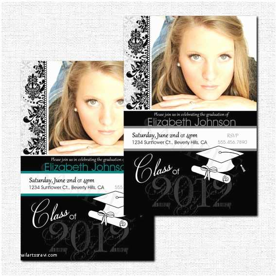 Personalized Graduation Invitations Personalized Graduation Party Invitation or Announcements
