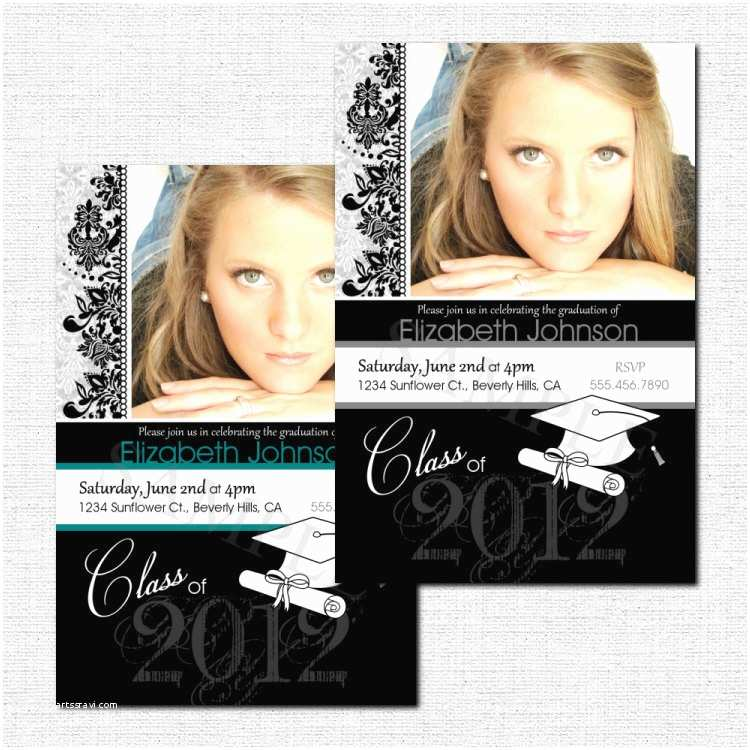 Personalized Graduation Invitations Personalized Graduation Party Invitation or Announcements