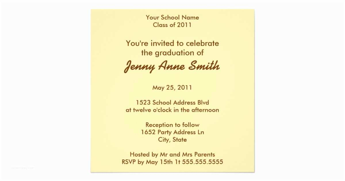 Personalized Graduation Invitations Personalized Sticky Note Graduation Invitation