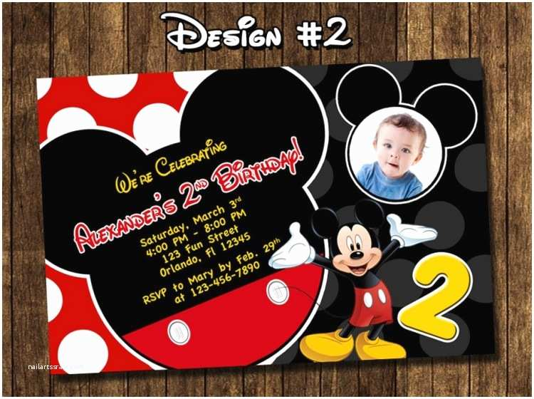 Personalized Mickey Mouse Birthday Invitations Personalized Mickey Mouse Birthday Invitations Badbrya