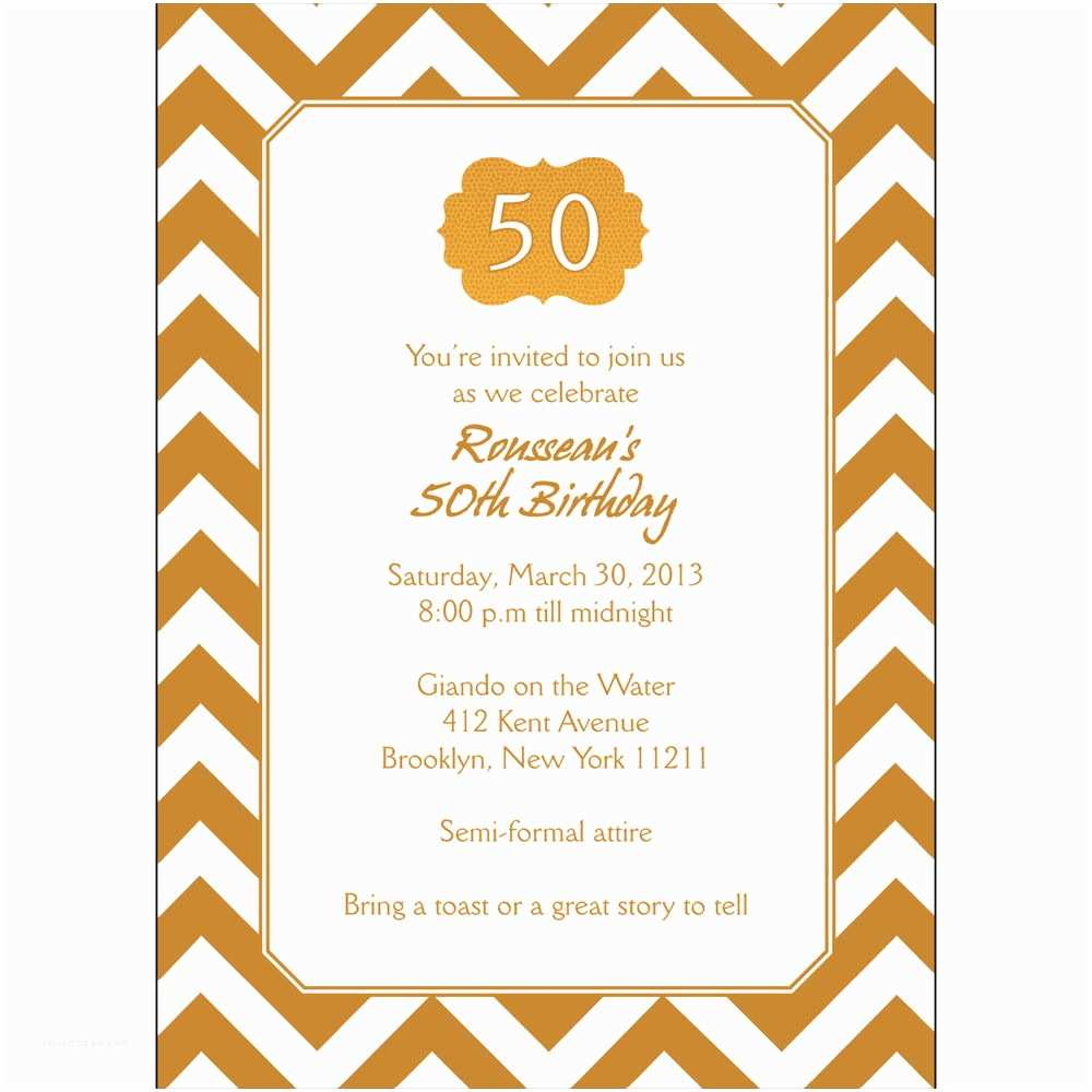 Personalized Party Invitations 25 Personalized 50th Birthday Party Invitations Bp 038