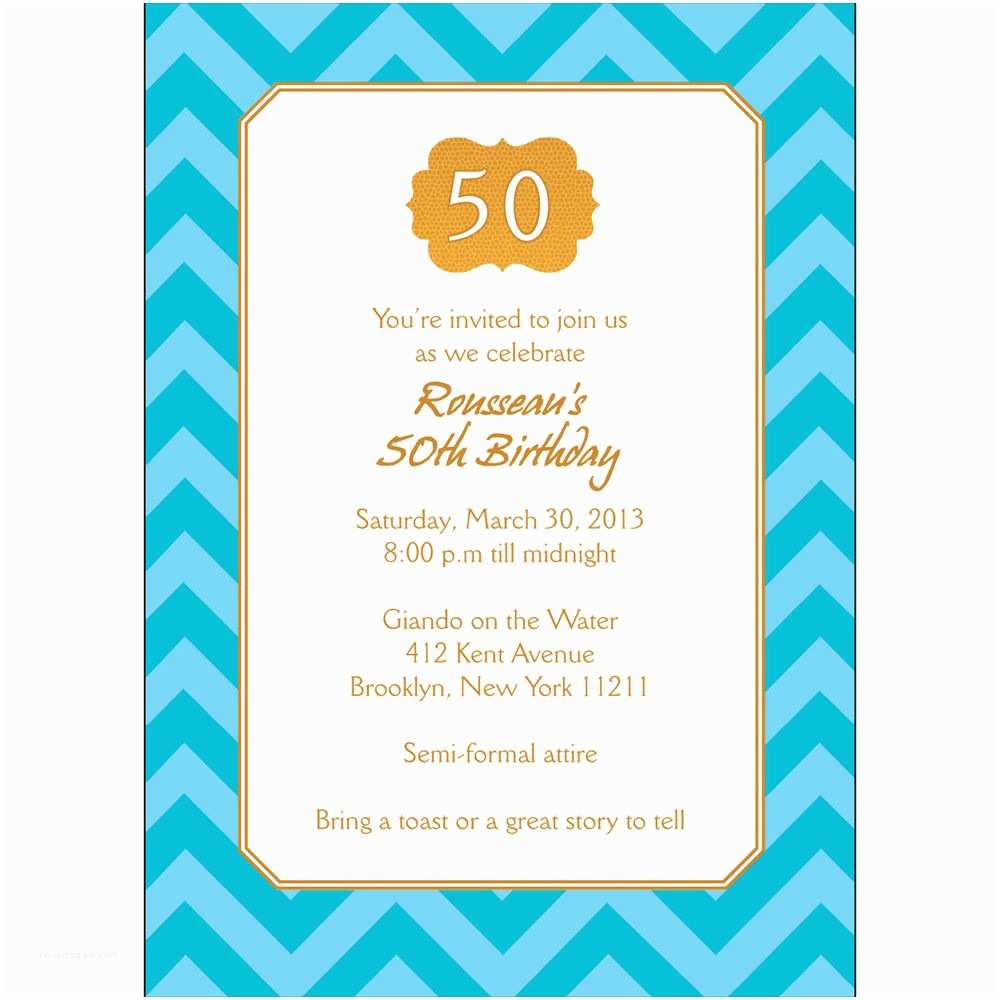 Personalized Party Invitations 25 Personalized 50th Birthday Party Invitations Bp 042