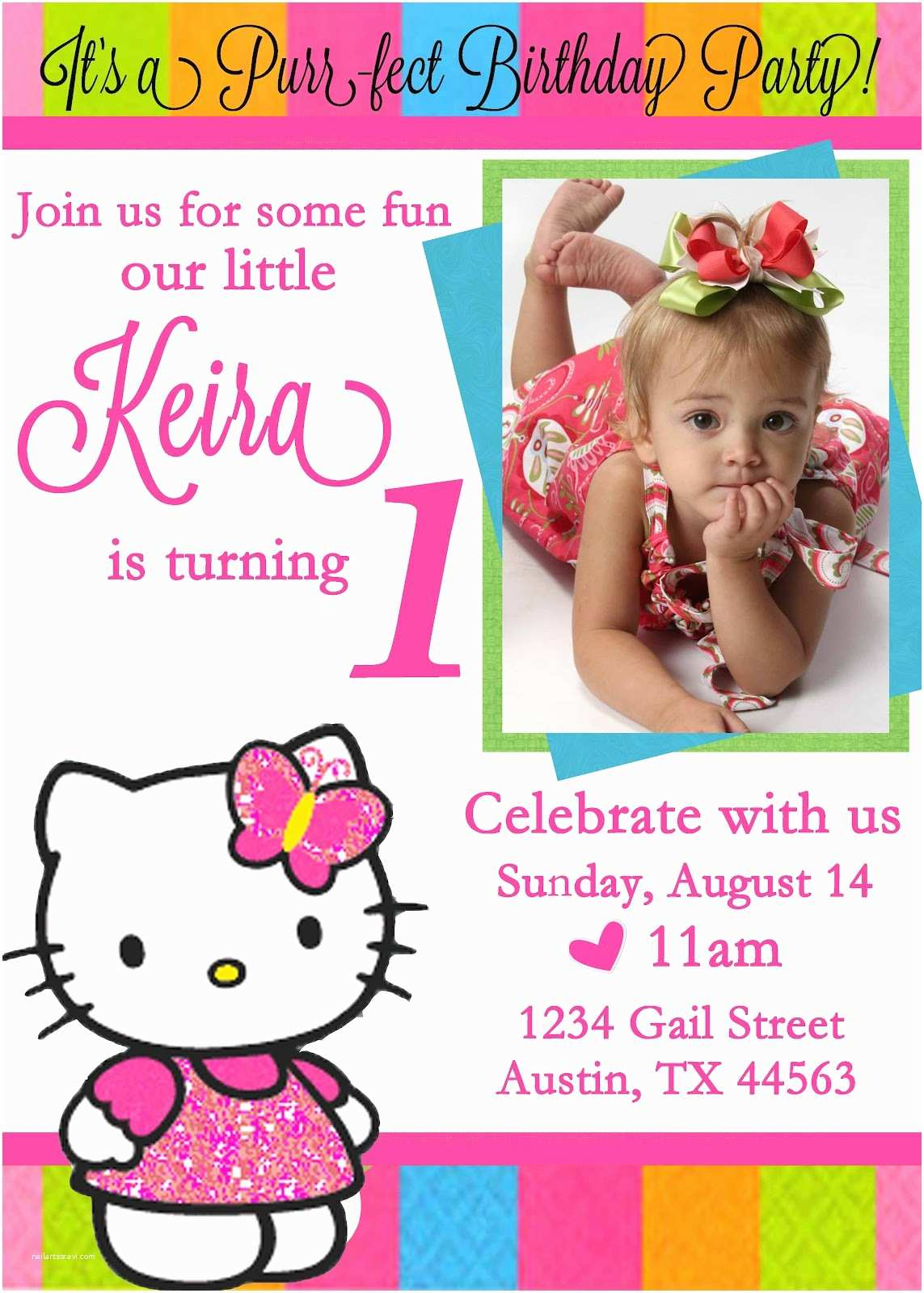 Personalized Party Invitations Free Personalized Hello Kitty Birthday Invitations