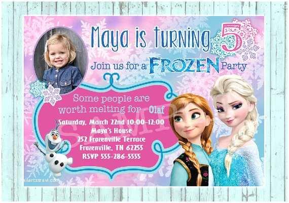Personalized Party Invitations Items Similar to Frozen Birthday Invitation Custom