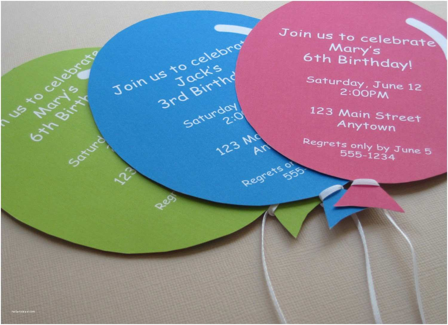 Personalized Party Invitations Personalized Balloon Party Invitations by Teapartydesigns
