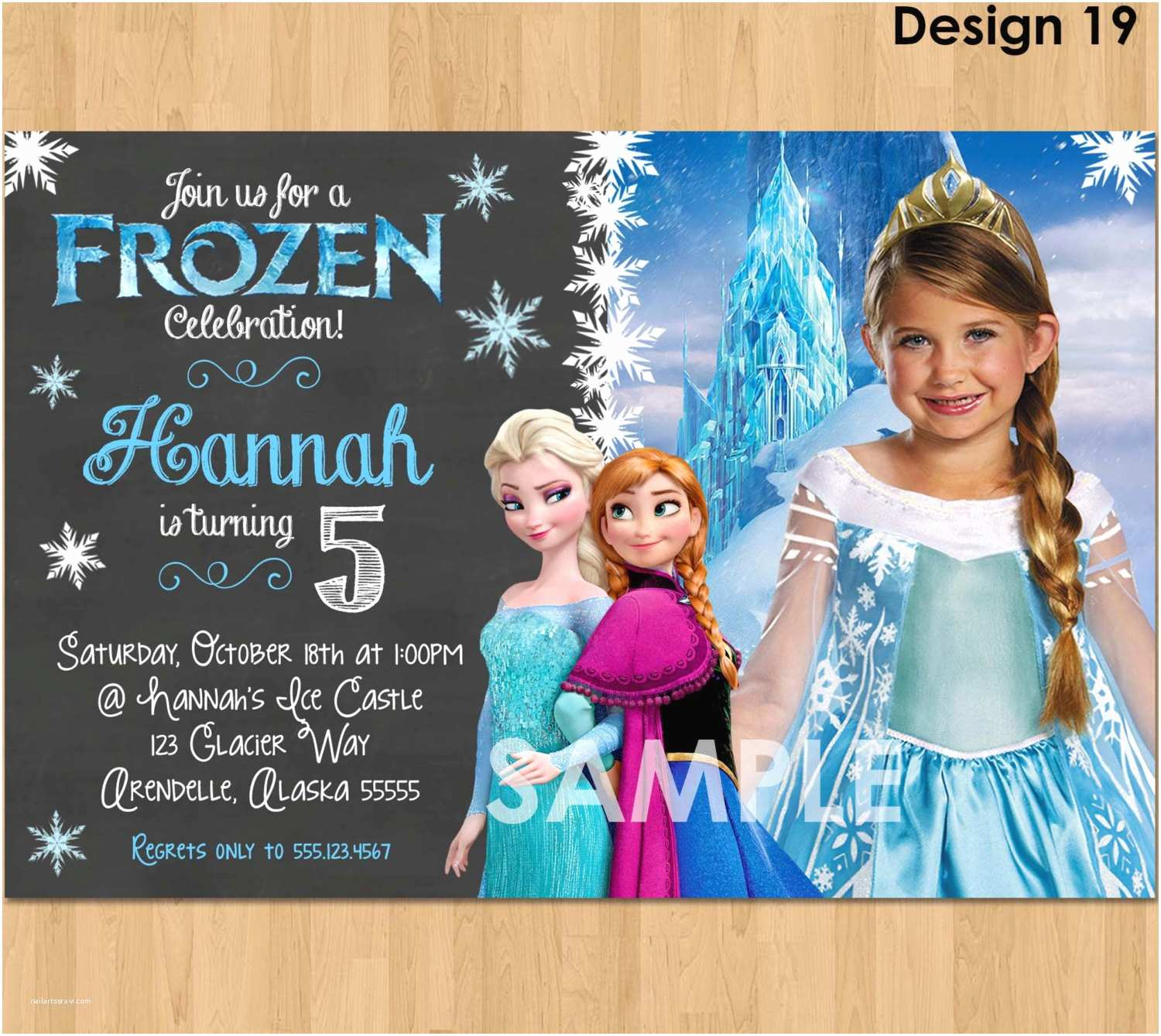 Personalized Party Invitations Personalized Frozen Birthday Invitations