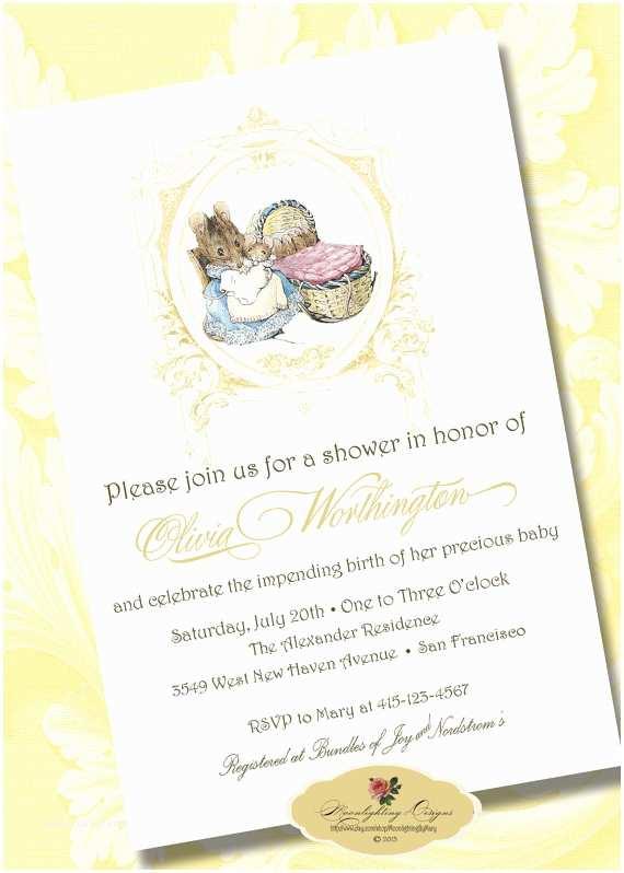 Peter Rabbit Baby Shower Invitations Digital Beatrix Potter Baby Shower Invitation by