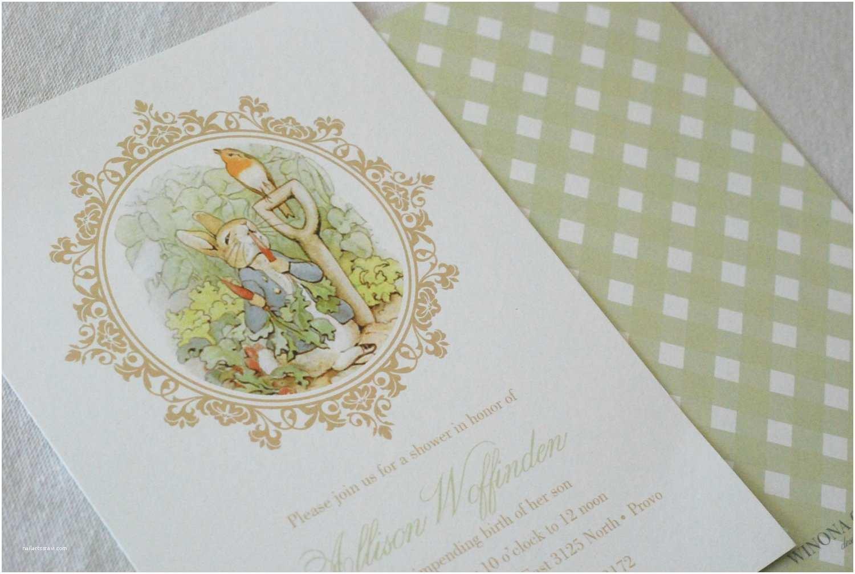 Peter Rabbit Baby Shower Invitations Peter Rabbit Baby Shower Invitation