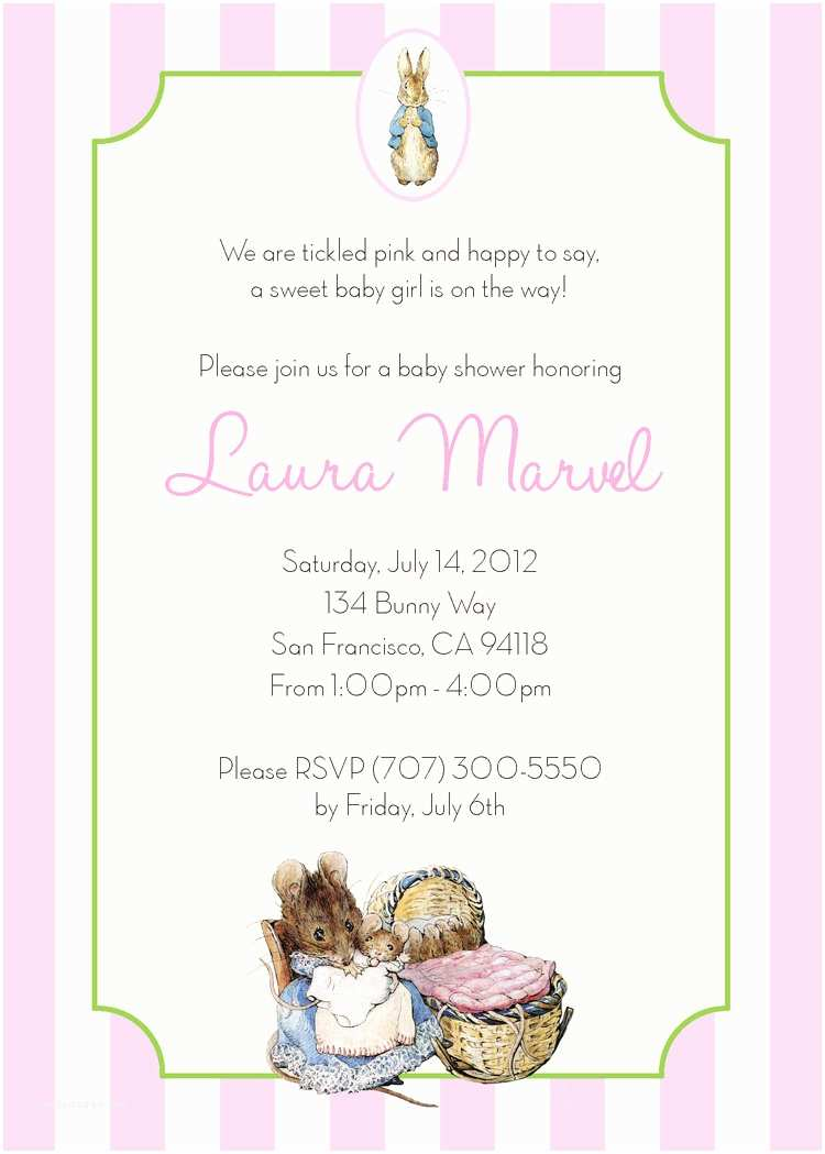 Peter Rabbit Baby Shower Invitations Peter Rabbit Baby Shower Invitation Personalized Printable