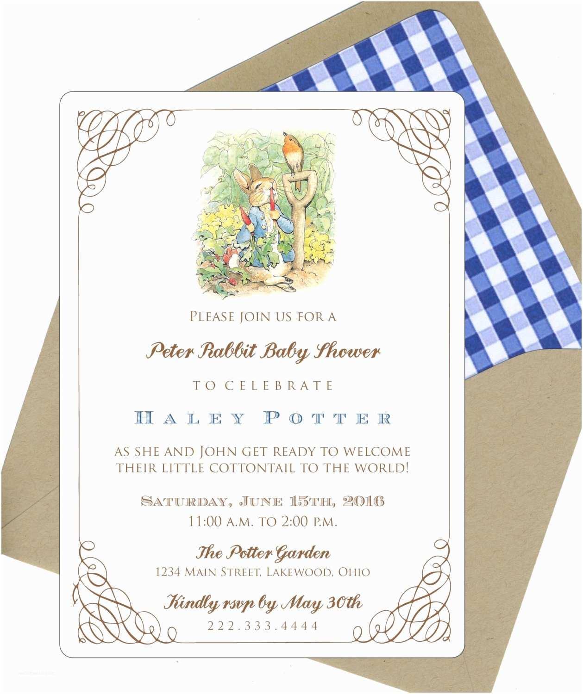 Peter Rabbit Baby Shower Invitations Peter Rabbit Baby Shower Invitations by Bbinvitations On Etsy