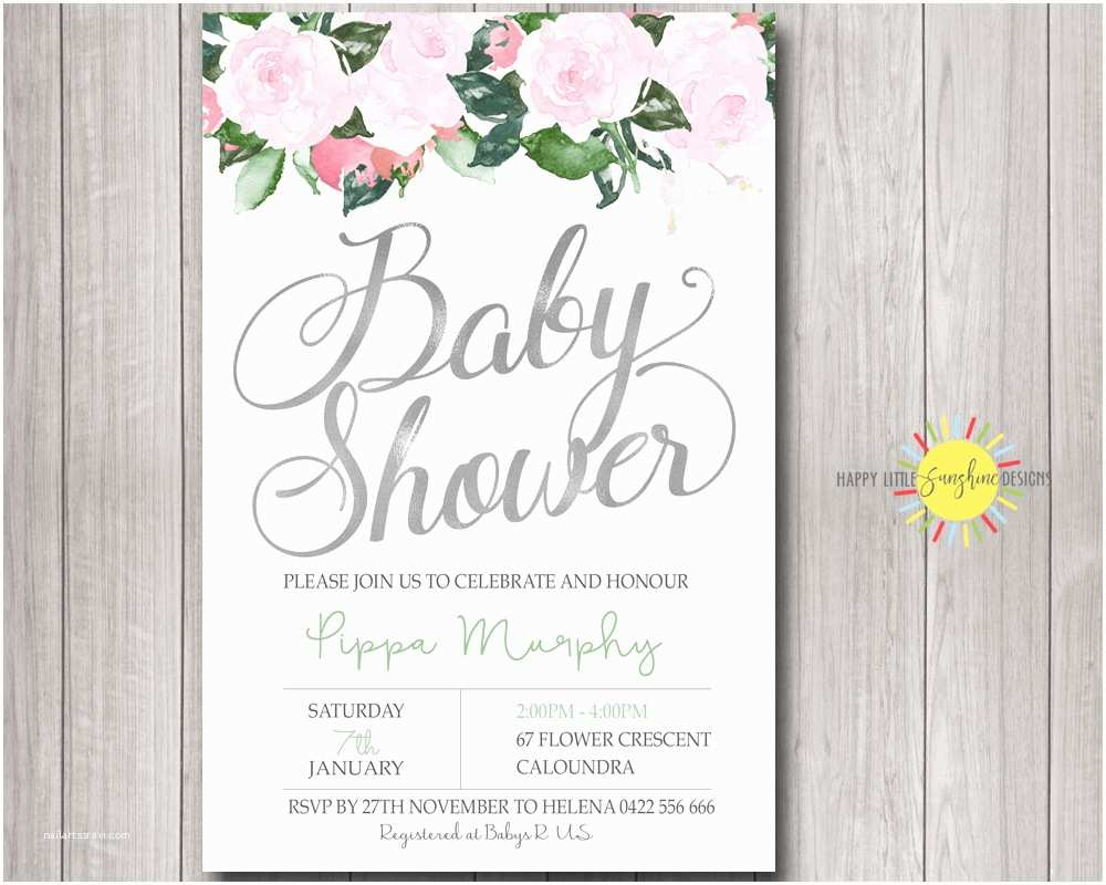 Photo Baby Shower Invitations Personalised Baby Shower Invitations Australia for Baby