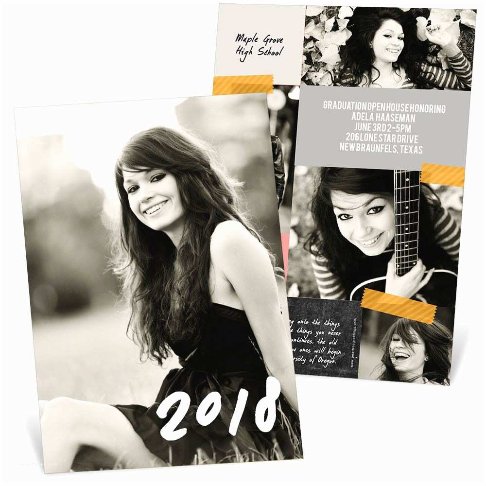 Photo Graduation Invitations Candid Collage Graduation Announcements