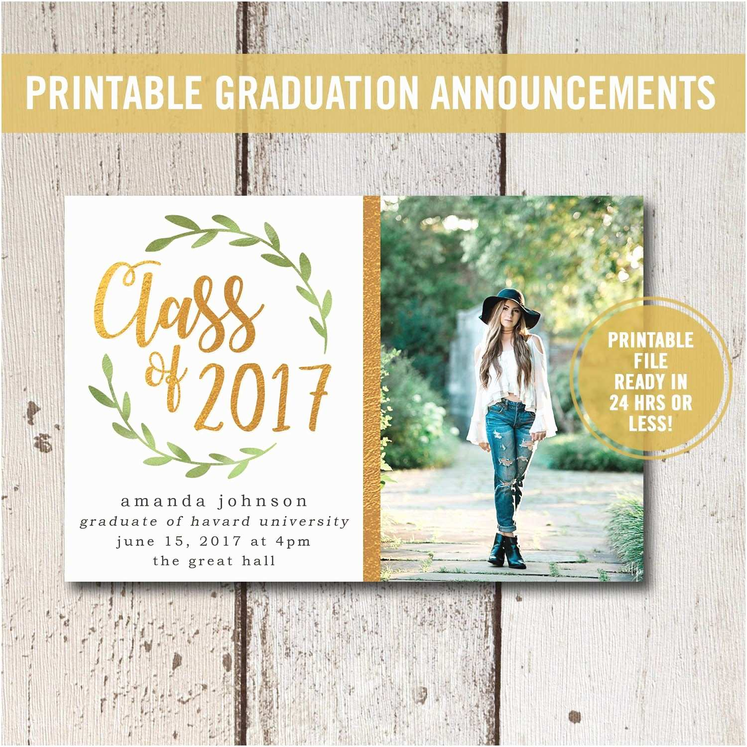 Photo Graduation Invitations College Graduation Invitation Printable High School