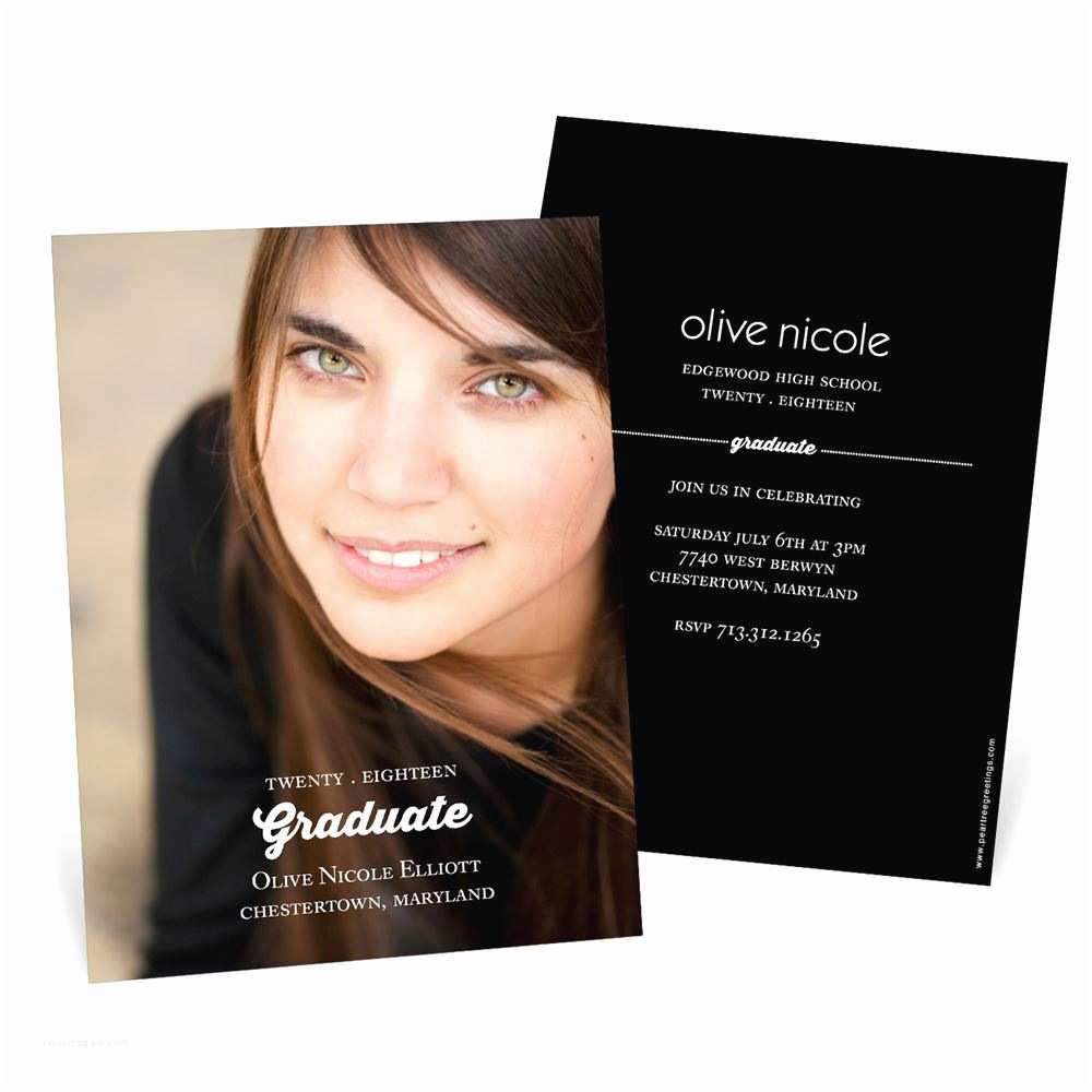 Photo Graduation Invitations Perfect Graduation Announcements