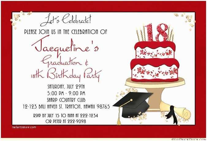 Photo Graduation Party Invitations Celebration Cake Graduation Card Cap Invitation Diploma